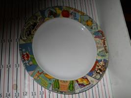 Oneida Sakura Vintage Labels Chop Plate / Round Platter - $12.82