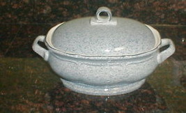 "MIKASA STONE WORKS LIGHT BLUE 9 1/4"" COVERED CASSEROLE - $75.23"