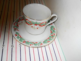 SANGO NOEL CUP AND SAUCER - $3.91