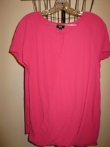 Hot Pink Top With Cap Sleeves by Mossimo Size XL NEW! #X245 - $12.99