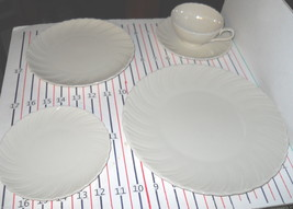 LENOX SCULPTURE OFF WHITE 5 PIECE PLACE SETTING - $59.39