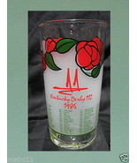 112th KENTUCKY DERBY RUN FOR THE ROSES 1986 TUMBLER GLASS SET OF 6 - $23.75