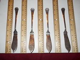 RICCI BARQUE SILVERPLATE FISH KNIFE SET OF 4 - $24.70
