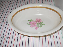 FRANCISCAN CHEROKEE ROSE WIDE BAND OVAL SERVING BOWL - $25.24