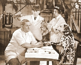 3 Stooges Dog Moe Larry Curly Vintage 8X10 Sepia TV Memorabilia Photo - $4.99