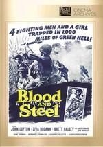 BLOOD AND STEEL [DVD] (2014) John Lupton; Ziva Rodann; Brett Halsey; Jan... - $19.58