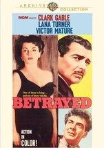 Betrayed (1954) [DVD] (2009) Clark Gable, Lana ... - $14.59