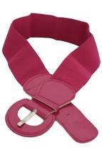 New Women Fashion Belt Hip High Waist Pink Elastic Band Round Buckle XS S M - $24.62