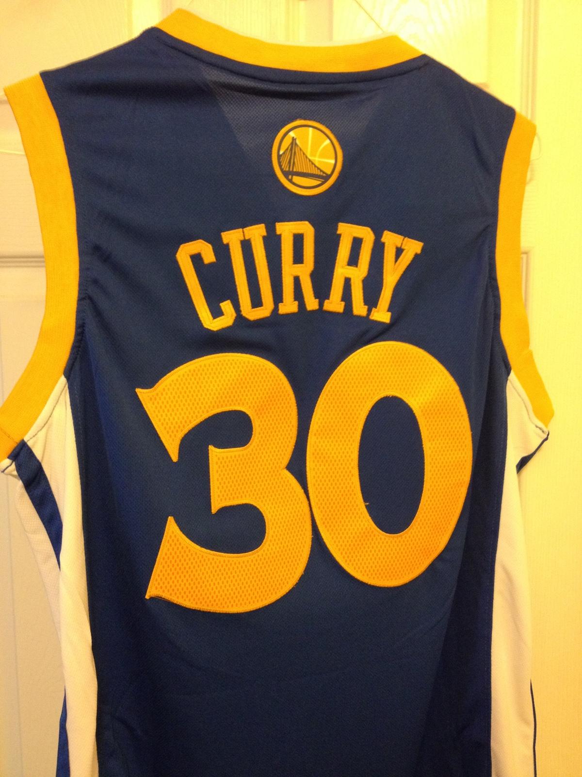 Stephen Curry Blue Adidas Swingman Jersey image 2