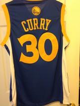Stephen Curry Blue Adidas Swingman Jersey image 3
