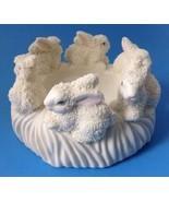 Easter Bunny Rabbit Pillar Candle Holder Jade Collection for Spring 2 Av... - $19.95