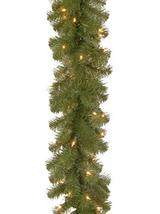 National tree 9 Foot by 10 Inch North Valley Spruce Garland with 50 Battery Oper image 2