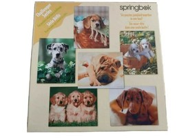 Springbok Jigsaw Puzzle Dogs Puppies Vintage Challenger Series 6 Puzzles - $19.75