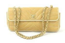 Auth CHANEL Shoulder Bag Brown Leather Matelasse Vintage Flap Logo Quilted B4287 - $1,317.69