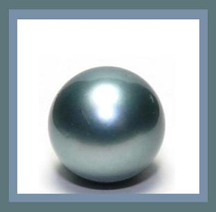 Round blue black color pearl  drilled  2.58ct 7mm