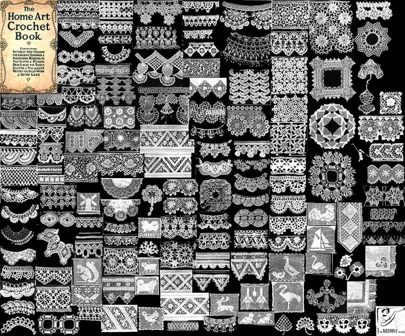 1912 Irish Crochet Pattern Book Edwardian And 50 Similar Items