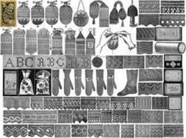 Purse Pattern Book Victorian Crochet Beaded Bags 1887 - $14.99