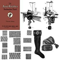 Antique Auto Knitter Machine Knitting HC Knit Book 1923