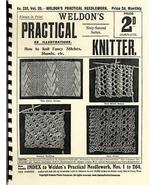 Victorian Weldon's Knitting Patterns Lacy Shawls HC #2! - $12.99
