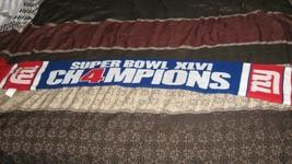 "NFL Super Bowl 46 XLVI New York Giants 4 Times Champions 48"" Winter Scarf - $4.94"