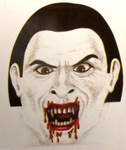 Creepy Zentai Morph BLOODY VAMPIRE MASK Horror Monster Cosplay Costume A... - $3.93