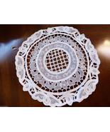 Table Doily Lace Center Mat Dresser  Decorative Organdy Battenburg Lace ... - $24.75