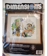 The Earth Is Our Home Cross Stitch Kit Dimensions 1991 Endangered Animals - $24.75