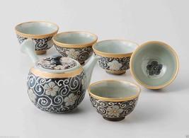 [Value] Hasami Porcelain : KIKYO - Japanese Kyusu Tea pot & 5 tea cup Se... - $204.77