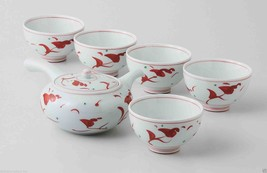 [Value] Hasami Porcelain : Flower - Japanese Kyusu Tea pot & 5 tea cup S... - $204.77