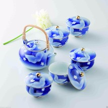 [Value] Hasami Porcelain: Butterfly - Japanese Kyusu Tea pot & 5 tea cup... - $259.93