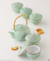 [Value] Hasami Porcelain : SAGANO - Japanese Kyusu Tea pot & 5 tea cup S... - $259.93