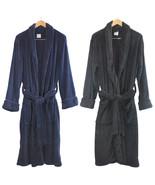 NWT Merona Men Long Super Soft Warm Plush Cozy Bathrobe Robe S/M L/XL Na... - $44.99