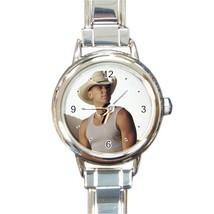 New Hot Kenny Chesney Women Round Italian Charm Watch wristwatch Gift - $8.50