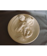"Exquisite  Alabaster "" Madonna Modesta "" Relief  Sculpture Collector Plate - $6.00"