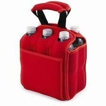 Cooler Red Tote Bag For A Six Pack Of Drinks - €19,75 EUR