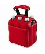 Cooler Red Tote Bag For A Six Pack Of Drinks - £17.27 GBP