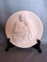 "Exquisite  Alabaster "" Madonna Ponesa"" Relief  Sculpture Collector Plate - $24.99"