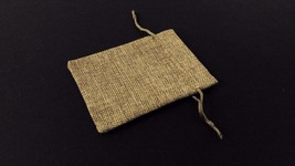 10pc LIGHT GREY Burlap Cloth Drawstring Gift Bags Party Wedding Favors 9... - $10.00