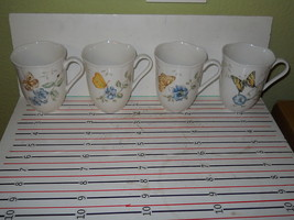 LENOX BUTTERFLY MEADOW SET OF 4 MUGS - $34.60
