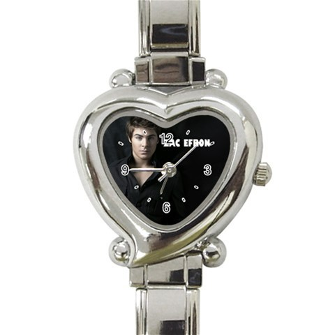 New Hot Zac Efron Women Heart Italian Charm Watch wristwatch Gift