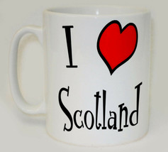I Heart Scotand Mug Can Personalise Funny Love Scottish St Andrew's Gift... - $9.78