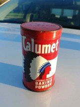 Vintage Calumet The Double Acting Baking Powder Tin Can Empty - $11.50