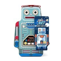 SUCK UK Robot Tin Lunch Box - $31.45 CAD