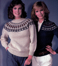 KNITTING IN ROUND BEEHIVE PATONS #446 FAMILY YOKE STYLE KNITS SWEATERS - $4.98