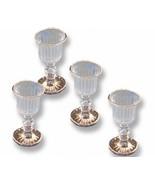 DOLLHOUSE 4 Empty Victorian Wine Glass 1.463/8 Reutter Gold Rim Goblet M... - $22.75