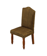 Dollhouse Dining Chair 18342 Reutter Brown Stripe Upholstered Miniature new 2015 - $14.50