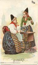 Singer Sewing  Sweden Women 1892 Victorian Trade Card - $7.00