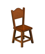 Dollhouse Country Kitchen Chair in Wood 17485 Reutter Miniature 2015 new... - $12.75