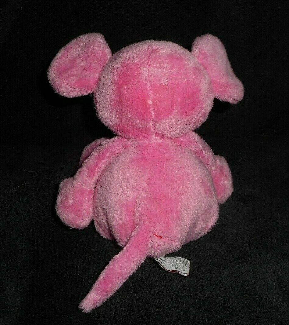 """11 """" Ty Pluffies 2005 Patter The Baby Rosa Mouse Peluche Peluche Morbido"""