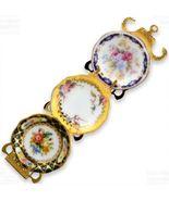 DOLLHOUSE Victorian Plate Rack 1.389/2 Reutter 3 Porcelain Patterns Mini... - $24.00